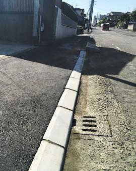 駐車場・ガレージを設置する為の歩道の切り下げ工事